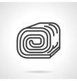 Sponge roll black line design icon vector image