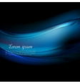 Dark blue smooth waves abstract background vector image