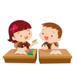 Cute girl student giving for friend vector image