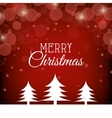 card merry christmas with christmas pine graphic vector image