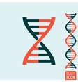Dna icon isolated vector image