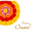 Flower Rangoli for Onam vector image