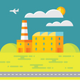 Industrial factory building - vector image
