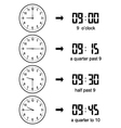 Learning Time Clock vector image