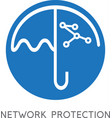 network protection business concept with umbrella vector image