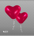 realistic balloon in the shape of a heart vector image