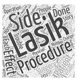 Statistics for Lasik Surgery Patients Word Cloud vector image