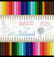 pencils multicolored abstract background back to vector image