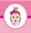 label baby girl vector image