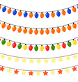 Set of Christmas garlands of stars and lanterns vector image vector image