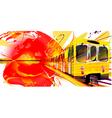Yellow Subway Background vector image