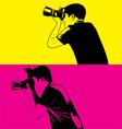 photograper vector image vector image