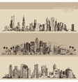 Chicago Los Angeles Houston Big City Engraved vector image