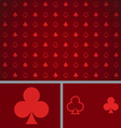 Clean Abstract Poker Background Red Clubs vector image