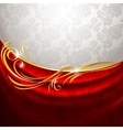 red fabric drapes vector image vector image