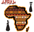 Africa traditional map vector image