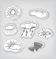 Hand-drawn weather icons set vector image vector image