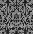 Black and white abstract striped floral pattern vi vector image