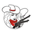 cowboy girl vector image