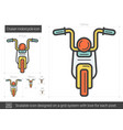 cruiser motorcycle line icon vector image