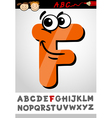 funny letter f cartoon vector image