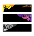 Happy Halloween party calligraphy banner on white vector image