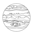 Jupiter icon in outline style isolated on white vector image
