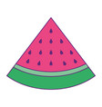 slice watermelon fruit fresh icon vector image