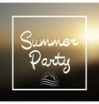 Summer Party Lettering Background vector image