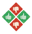 thumbs up and the bottom icons vector image