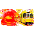 Yellow Subway Background vector image