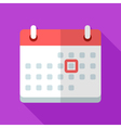 Colorful calendar icon in modern flat style with vector image