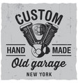 custom old garage poster vector image