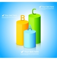 Infographic template with colorful cylinders vector image vector image