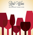 Red wine list menu cover in format vector image vector image