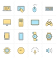 Gadgets icon set vector image