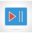 Player next button flat color design icon vector image