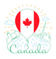 balloon with a canadian flag vector image