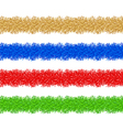 colorful christmas tinsel vector image