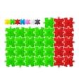 Colorful puzzle calendar vector image