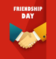 day of friendship poster vector image