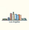 flat line los angeles banner vector image