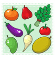 Fruits and Vegetables 02 vector image