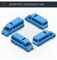isometric minibus car vector image