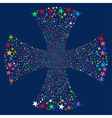 Sparkle Star Maltian Cross vector image