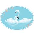 swan lake vector image
