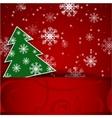 Christmas tree horizontal postcard vector image
