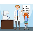 Ophthalmologist working in clinic vector image vector image