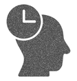 Time Thinking Grainy Texture Icon vector image