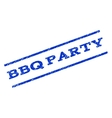 BBQ Party Watermark Stamp vector image